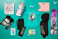 Shop Justice's selection of new arrivals for tween girls to find the latest styles she loves! Browse our collection of on-trend graphic tees, school-approved dresses & much more! Cute Girl Outfits, Sporty Outfits, Cute Outfits For Kids, Dance Outfits, Justice Girls Clothes, Justice Clothing, Girls Fashion Clothes, Kids Fashion, Tween Clothing