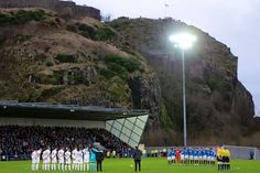 Minutes silence ahead of the match at Dumbarton on the anniversary of the Ibrox disaster,  02-01-2016.  Rangers went on to win 6-0.