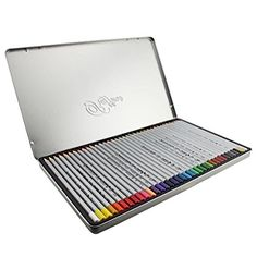 NIUTOP Art Drawing Colored Pencils Set 36 Assorted Artist Coloring Color Pencils with Tin Box for Sketching Drawing Adult Coloring Books