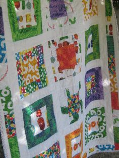 Very Hungry Caterpillar Quilt - my version with help from lots of ... : eric carle quilt kits - Adamdwight.com