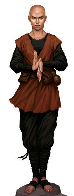 Male Human Monk - Pathfinder PFRPG DND D&D d20 fantasy