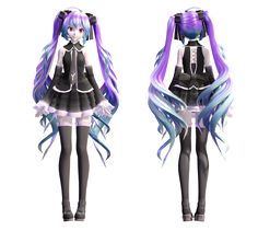 Infinity Miku by cacti-sloom Vocaloid, Kaito, Mikuo, Body Picture, Best Waifu, Gothic Outfits, Anime Outfits, Anime Love, Manga Anime