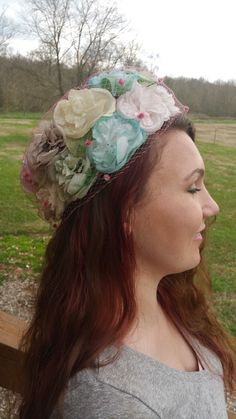 A personal favorite from my Etsy shop https://www.etsy.com/listing/261541310/floral-vintage-union-made-pink-formal