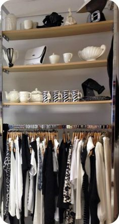 Odds dont mean messy. Try pulling a fixture together using a colour scheme. And notice the lifestyling element of bags, clothes, crockery. Sell your customer a lifestyle, not just a pair of trousers.