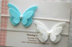 Butterfly Headband Butterfly Baby Headband Felt by MyMondaysChild