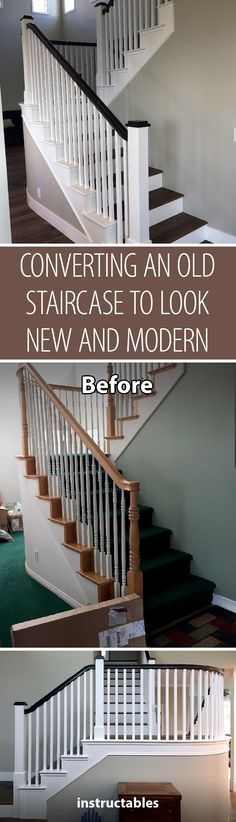 Converting an Old Staircase to Look New and Modern
