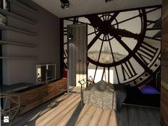 Dom w stylu industrailnym - wizualizacje - Mała sypialnia, styl industrialny…