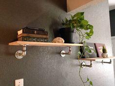 Industrial Pipe Shelf by UrbanWoodShop on Etsy