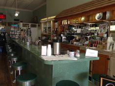 Old Soda Fountain Pharmacy in Van Alstyne, TX.