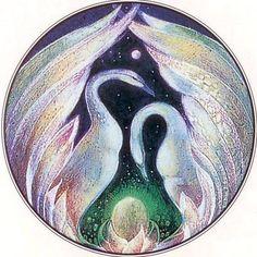 Swan totem....Susan Seddon Boulet