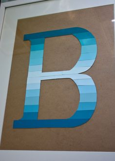 Ombre Monogram Paint Chip Art www.homesweetlifeblog.com