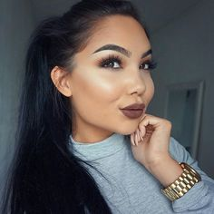 Brown lips..