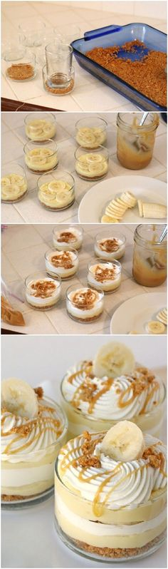 Simple Banana Caramel Cream Dessert | CookJino