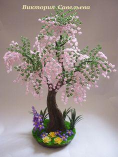 Wire Trees, Tree Sculpture, Bonsai Garden, Beaded Flowers, Plants, Tree Art, Bonsai Trees, Wire, Pearls