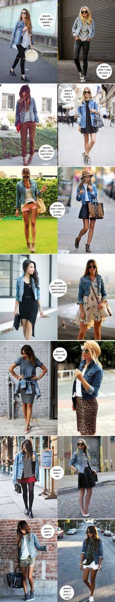 A famosa e casual jaqueta jeans