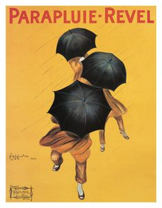 Leonetto Cappiello Parapluie Revel 1922 Umbrella Art Poster Print Limited Rare