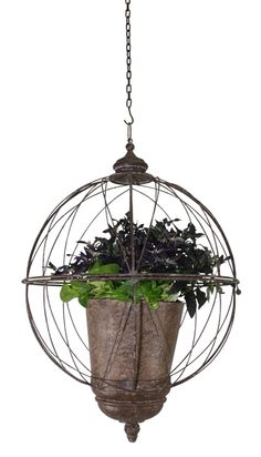 Whether you are putting your plants inside or out you don't have to settle for boring planters. http://www.myswankyhome.com/orb-hanging-planter/