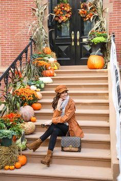 Fall Outfits For Work, Fall Fashion Outfits, Casual Fall Outfits, Fall Winter Outfits, Autumn Winter Fashion, Winter Style, Outside Fall Decorations, Outdoor Decorations, Classy Prom Dresses