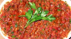 Türkische Paprika Peperoni Dip – Acılı Ezme - Another! Turkish Mezze, Turkish Salad, Easy Cooking, Cooking Recipes, Turkish Recipes, Ethnic Recipes, Exotic Food, Appetisers, International Recipes