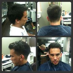 Fade with length on top by Kelli T. #tribecasalon #kennedyblvd #menshair