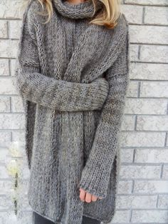 Slouchy/Bulky /Oversize sweater. Marble grey by RoseUniqueStyle
