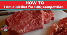 In a BBQ competition, how to trim a brisket is as important as and sometimes trickier than cooking it properly. Discover some advanced tips Grilling Tips, Grilling Recipes, Cooking Recipes, Smoker Recipes, Smoked Beef Brisket, Bbq Pitmasters, Smoker Cooking, Best Meat