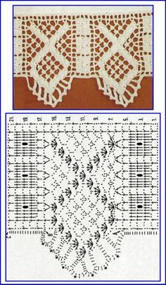 Spanish language site with many crochet edging patterns---clearly diagrammed Crochet Edging Patterns, Crochet Lace Edging, Crochet Borders, Crochet Squares, Irish Crochet, Crochet Stitches, Crochet Dollies, Crochet Baby, Knit Crochet