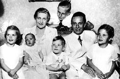 Nazi family values.  Madga and Joseph Goebbels with their 4 eldest children, L-R:  Hilde, Holde, Helmut, and Helga.  As usual, Daddy's girl Helga is sitting next to her father.  And in the back Harald, Magda's son from her 1st marriage, gives his mother a loving glance.