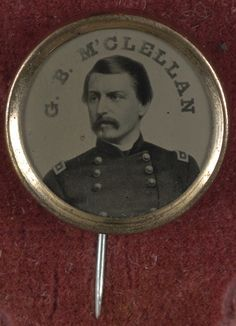 [Gen. George McClellan campaign button for 1864 presidential election] (LOC) by The Library of Congress, via Flickr