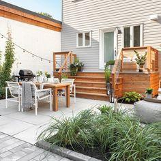 Backyard Patio Designs, Backyard Landscaping, Design Cour, Gazebo, Pergola, Terraced Backyard, Patio Plans, Garden Yard Ideas, Dream Garden