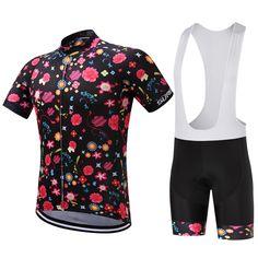 SUREA 2017 Men cycling jersey short sleeve bib shorts set clothes  breathable Quick Dry Summer SU003 3a20e01df