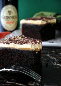 Chocolate Stout Cake with Burnt Caramel Buttercream Frosting