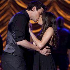 Finn & Rachel's Nationals kiss onstage! #glee
