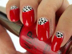 Cruella DeVille's Nails from http://polishcookies.blogspot.com/