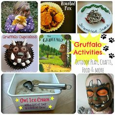 Sun Hats & Wellie Boots: 4 Gruffalo Activities for World Book Day Gruffalo Activities, Gruffalo Party, The Gruffalo, Math Activities, Toddler Activities, Gruffalo Eyfs, World Book Day Activities, World Book Day Ideas, Forest School Activities