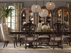 Shop this hooker furniture rhapsody dining room set from our top selling Hooker Furniture dining room sets. LuxeDecor is your premier online showroom for dining room furniture and high-end home decor. Dining Room Sets, Casual Dining Rooms, Dining Room Furniture, Dining Room Table, Space Furniture, Fine Furniture, Furniture Sale, Room Chairs, Quality Furniture