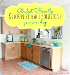 Need so help getting your kitchen organized? Check out these great budget kitchen storage ideas! No extra cash, no problem!
