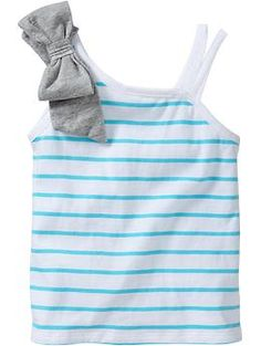 One-Shoulder Bow-Tie Tops for Baby   Old Navy