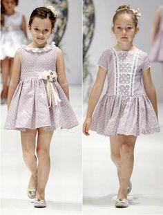 Preciosos vestidos para niña ideales para confeccionar con nuestros piques de topitos. CENTROTELA.es