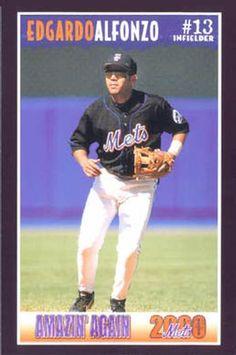 Edgardo Alfonzo New York Mets Baseball, Ny Mets, Baseball Players, Baseball Cards, Lets Go Mets, Mlb, Board, Sports, Hs Sports