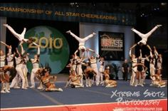 The Cheerleading Worlds 2010 Top Gun Photo by Xtreme Shots Photography Open Pandora, All Star Cheer, Top Gun, Stunts, Cheerleading, Amazing Photography, Gymnastics, World, Athletes