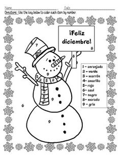 Cute way to reinforce the colors in Spanish.  Happy December!  Learn Spanish and have fun!♥