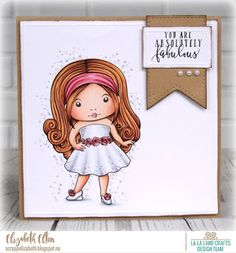 From our Design Team! Card by Elizabeth for inspiration on La-La Land Crafts blog. Click on the photo for product list and coloring details