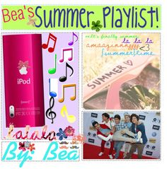 """-Bea's summer playlist♥"" by thetipprincesses ❤ liked on Polyvore"