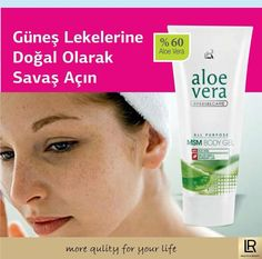 Güneş lekesi ve çillerden mi şikayetçisiniz ?  O zaman Aloevera MSM jel henüz denemediniz. Lr Beauty, Skin Images, Body Gel, Jelsa, Aloe Vera, Health And Beauty, Personal Care, Personal Hygiene, Elsa
