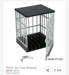 Anyren Novelty Gift Idea Mobile Phone Jail Cell Prison Lock Up Safe Smartphone Home Table Office Meeting Gadget Storage Tool, Phone Lock, Lock Up, Proof Bar, Jail Cell, Quality Time, The Incredibles, Phone Prison, Prison Cell, Storage