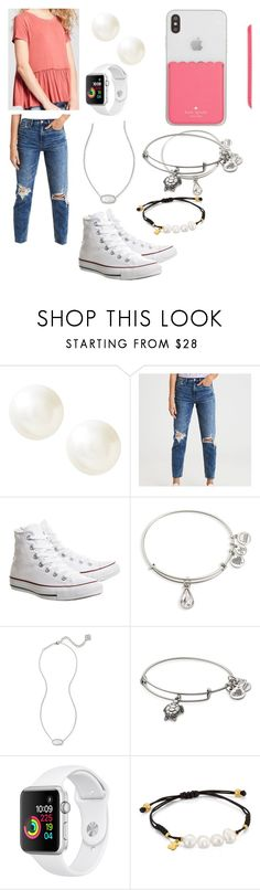 """""""Birthday OOTD"""" by hope-halat on Polyvore featuring Banana Republic, American Eagle Outfitters, Converse, Alex and Ani, Kendra Scott and TOUS"""