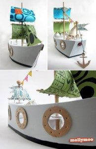 How to make a recycled pirate ship toy – Recycled Crafts