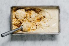 Crunchy caramelized honeycomb candy is folded into vanilla ice cream in this creamy sweet treat.