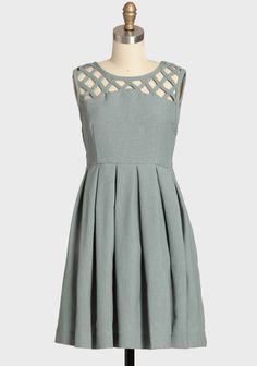 We should keep our eyes on this site. Fantastic dresses at reasonable prices. Lily Pleated Dress In Gray By Dear Creatures $118